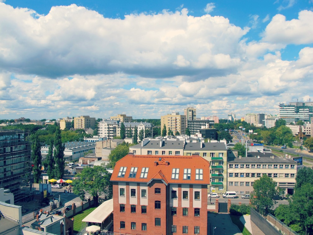 Modern day- Warsaw skyline...